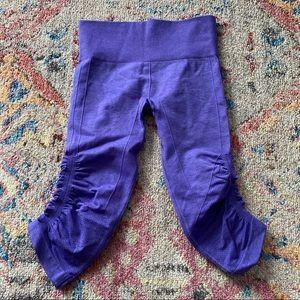 Lululemon Purple Workout Capri